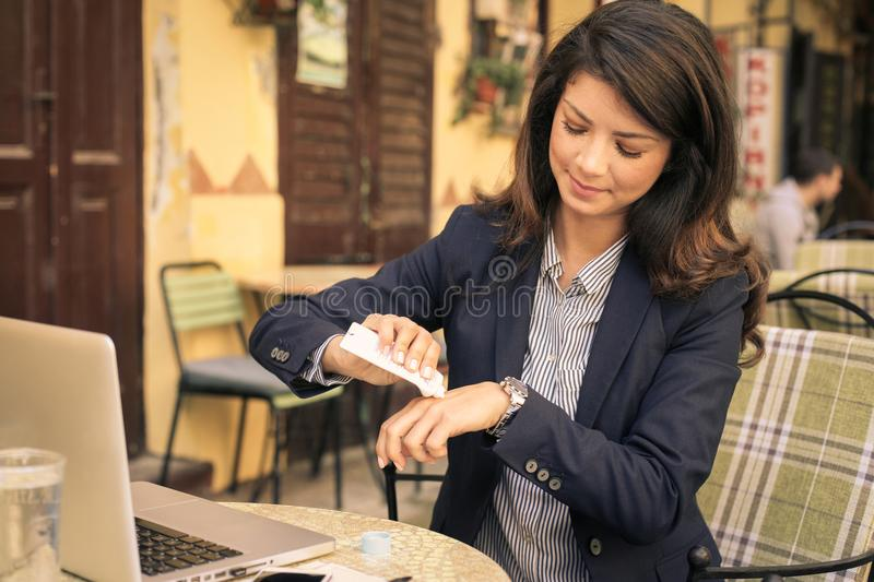 Business but care about beauty. stock photos
