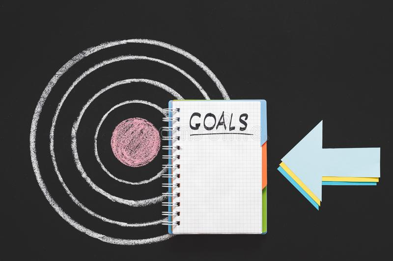 Business career growth goals list future success royalty free stock image