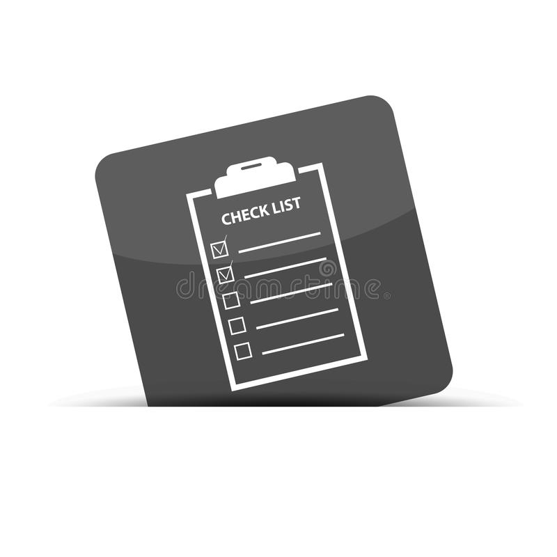 Business Cecklist - Cut Square Icon - Vector Illustration - Isolated On White vector illustration