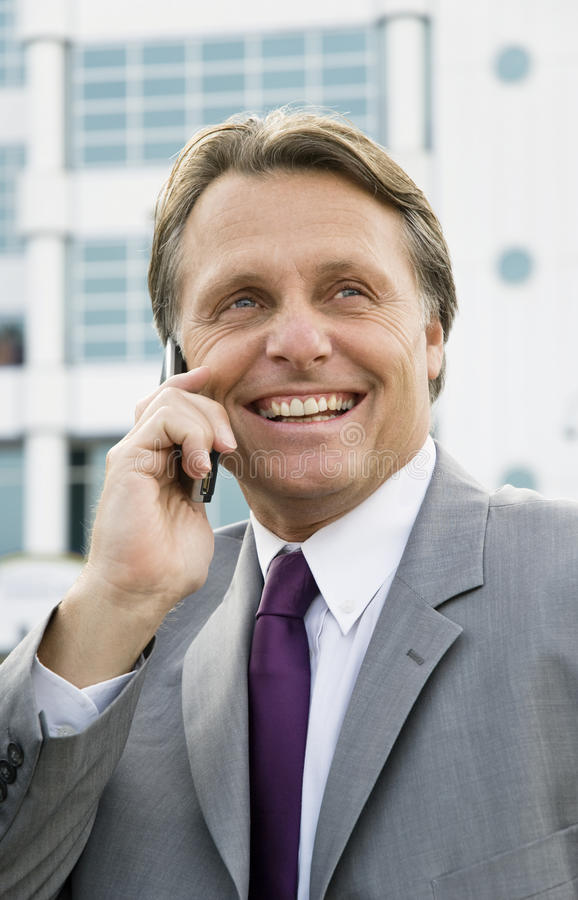 Download Business On Cellphone. Royalty Free Stock Photos - Image: 9663238
