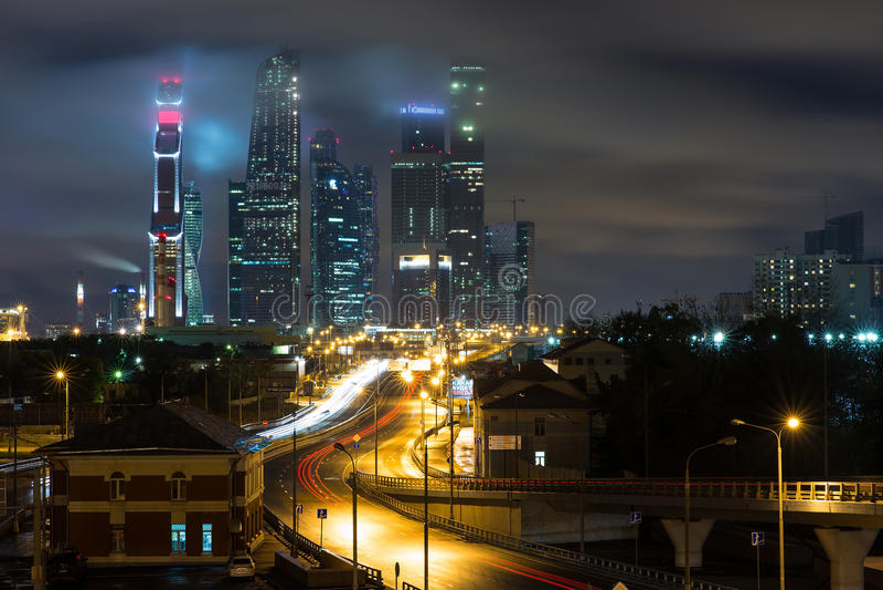 business center city moscow στοκ φωτογραφία