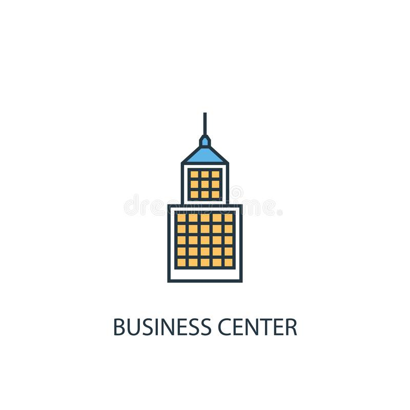 Business Center-concept 2 gekleurde lijn stock illustratie