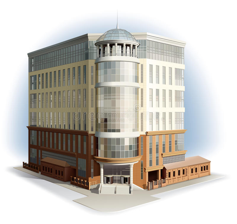 Business center. Detailed illustration. royalty free stock images