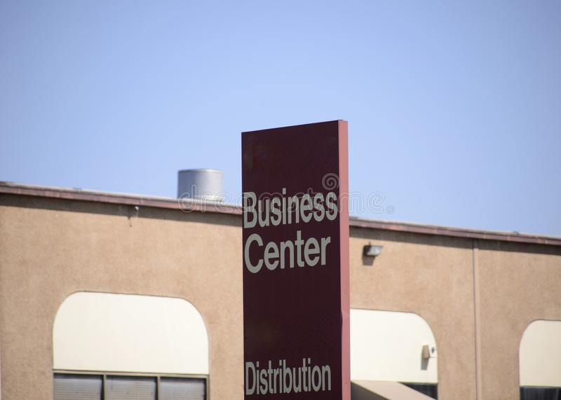 Business Center and Distribution Area. A business center is made up of commercial retailers, shipping companies, distributors and manufacturing companies royalty free stock photos
