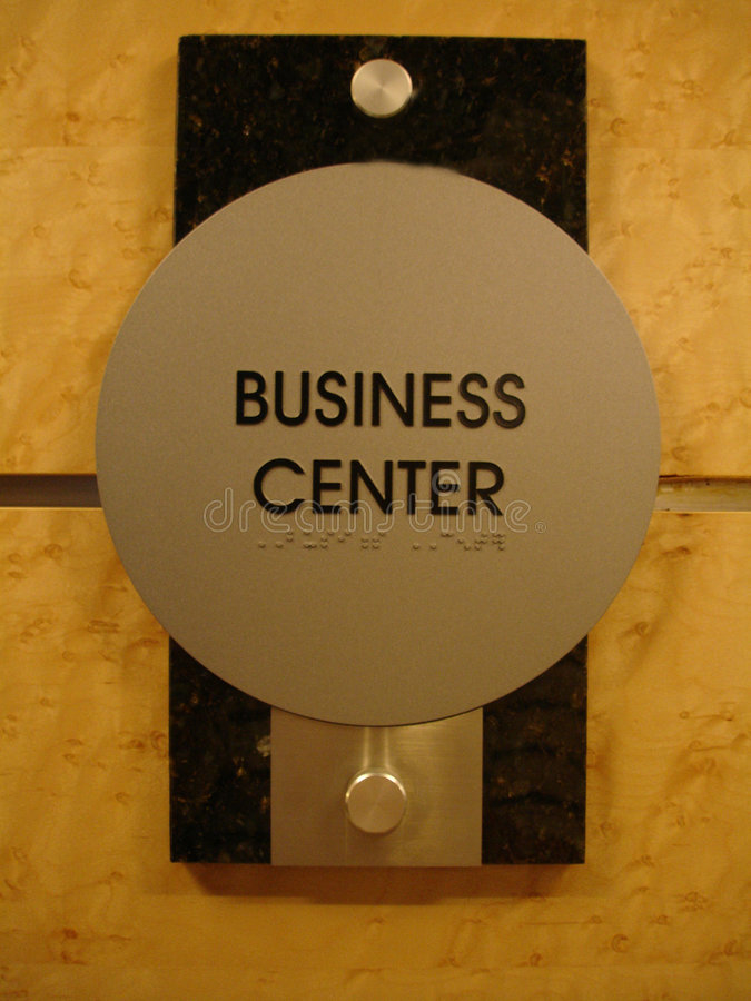 Business Center Sign royalty free stock image