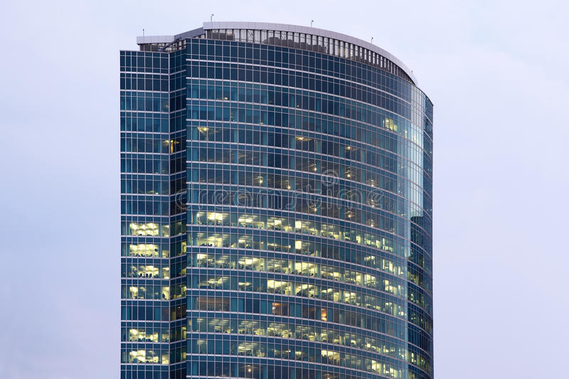 Download Business Center Tower On Quay Stock Image - Image: 18595715