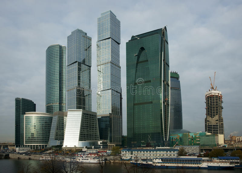 Business centre Moscow-city royalty free stock images