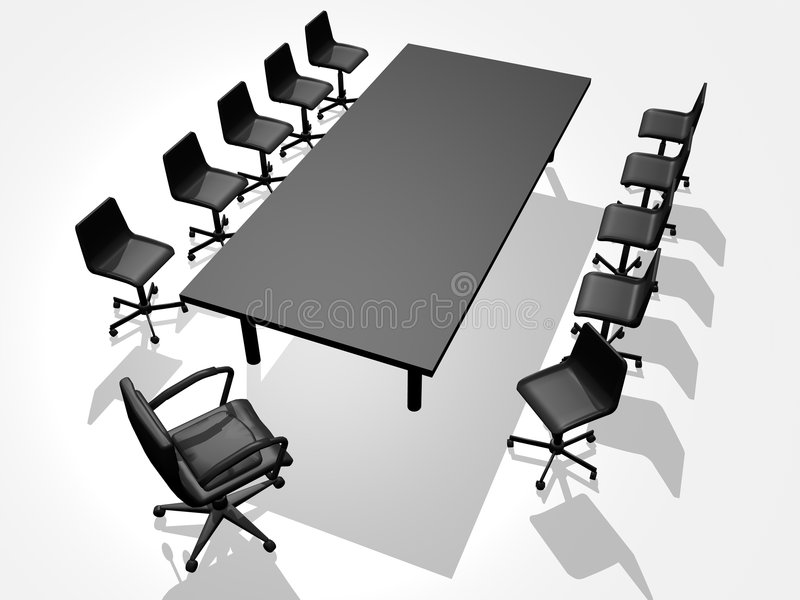 Business chair. 3-D images