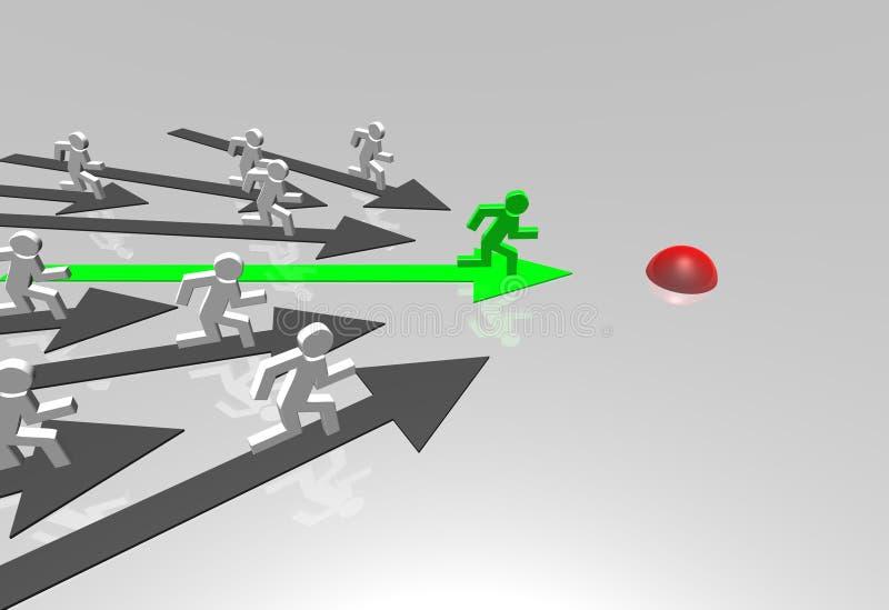 Download Business challenge stock illustration. Illustration of direction - 12820002