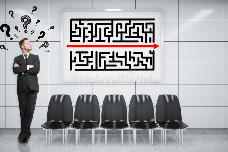 Business challenge concept royalty free stock images