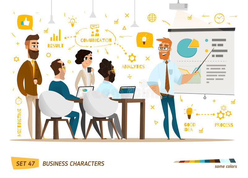 Business characters collection vector illustration