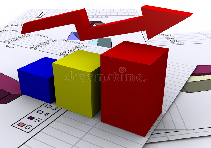 Business Chart royalty free illustration