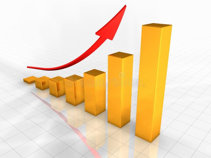 Business Chart stock illustration