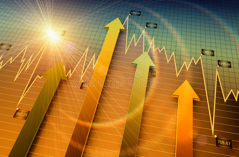 Business chart. Financial and business chart and graphs vector illustration