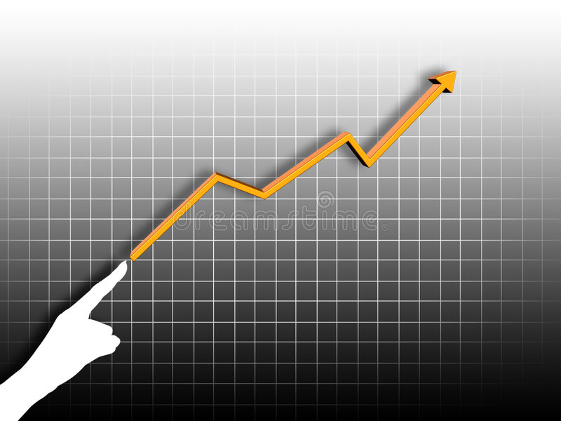 Business chart stock illustration