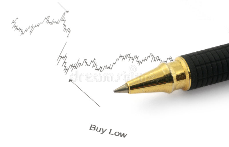 Download Business Chart With BUY LOW Stock Image - Image: 2250479