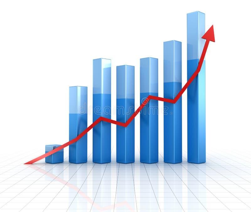 Business chart vector illustration