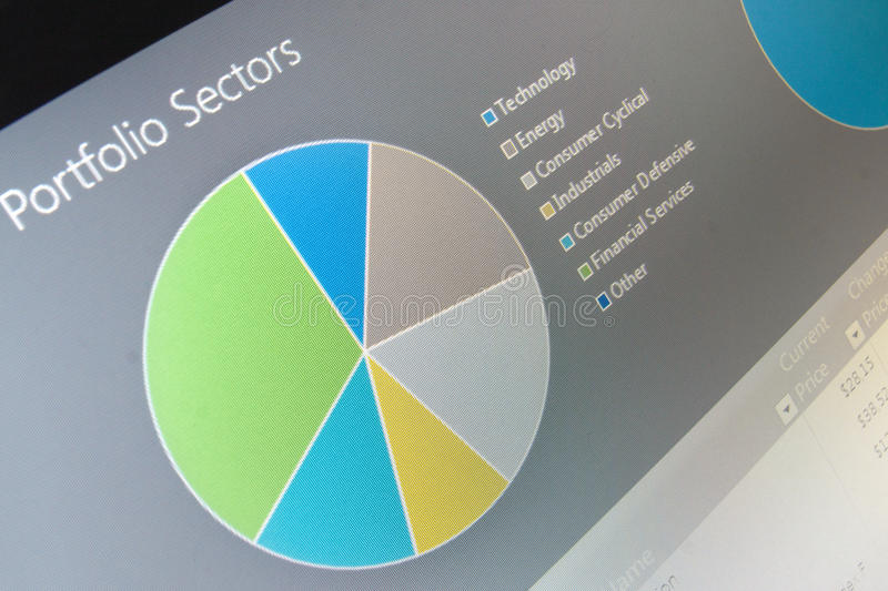 Business chart data diagram on computer screen. Shallow depth of field photo royalty free stock photography
