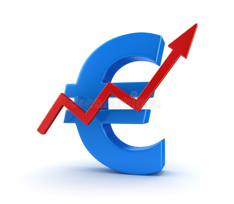 Business Chart with Euro Symbol royalty free illustration