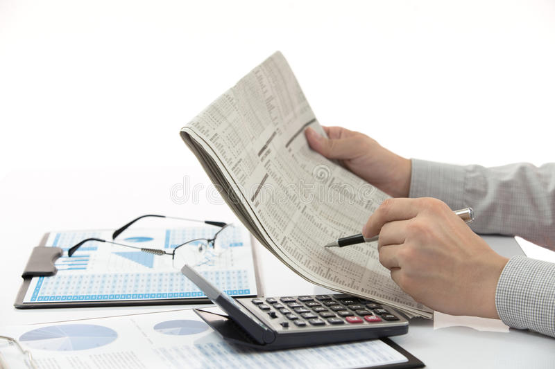 Business chart showing royalty free stock photo