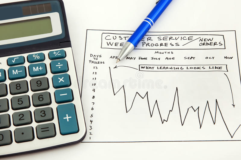 Download Business Chart Showing Success Stock Photo - Image of calculator, money: 12729922