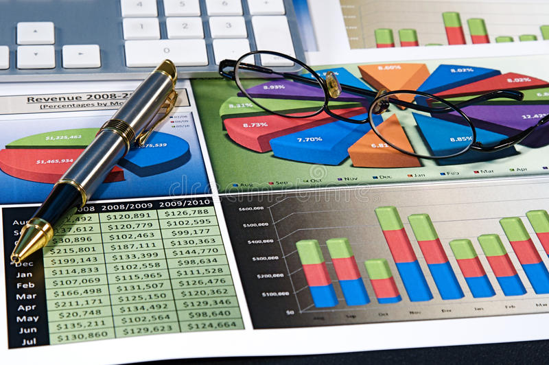 Business Charts stock photography
