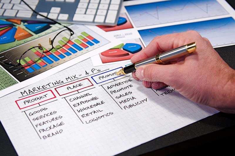 Business Charts. Business strategy organizational charts and graphs stock images