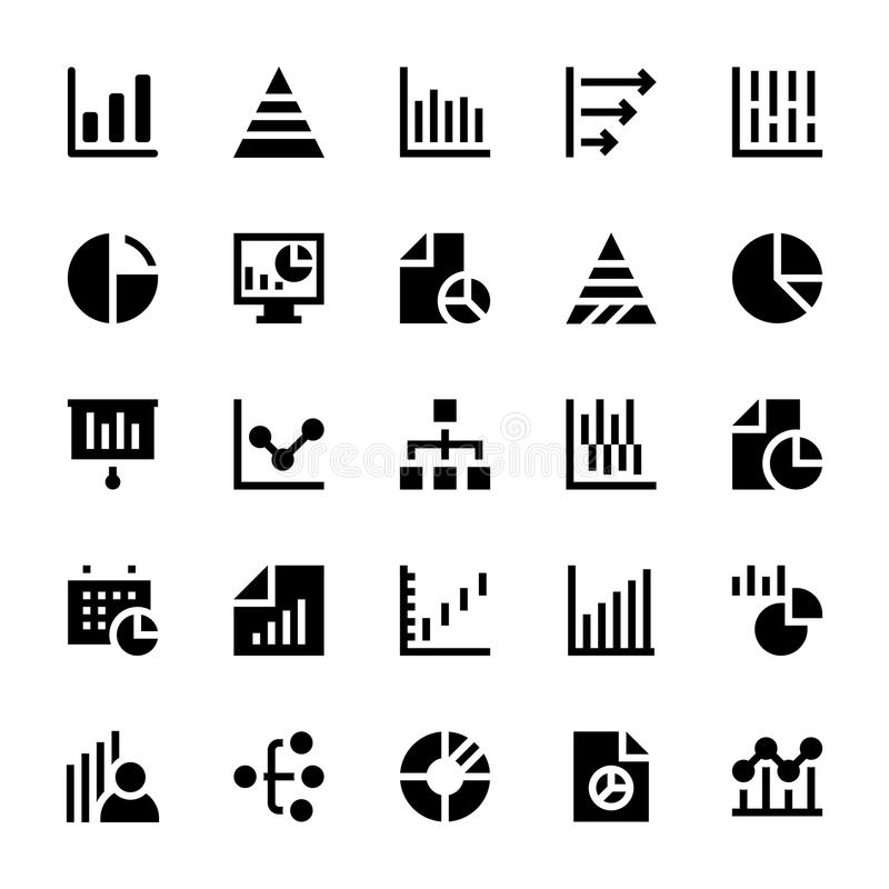 Business Charts and Diagrams Solid Icons 1. We manage a lot of information and we need to show this info in the best visual way, this Business Chart and diagrams vector illustration