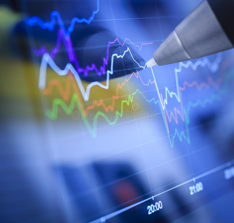 Business charts and markets royalty free stock photo