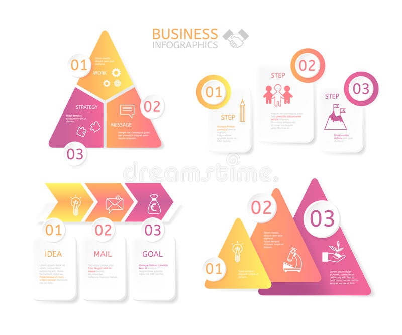 Business charts for various illustrations royalty free stock images