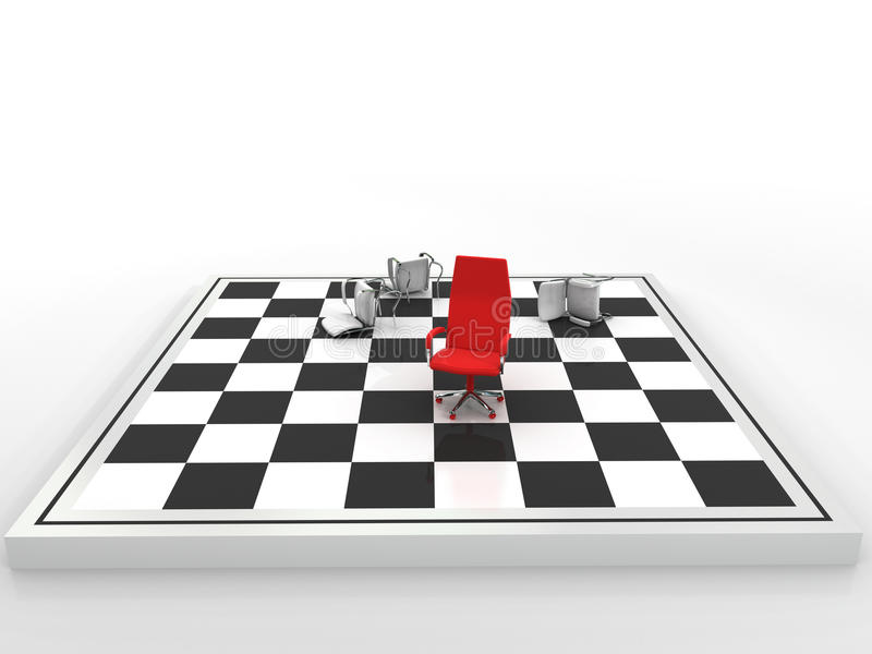 Business checkmate mate royalty free illustration