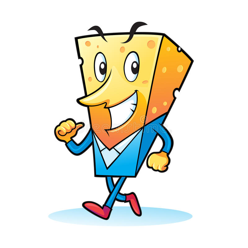 Download Business Cheese Man stock vector. Image of mascot, smiley - 20854316