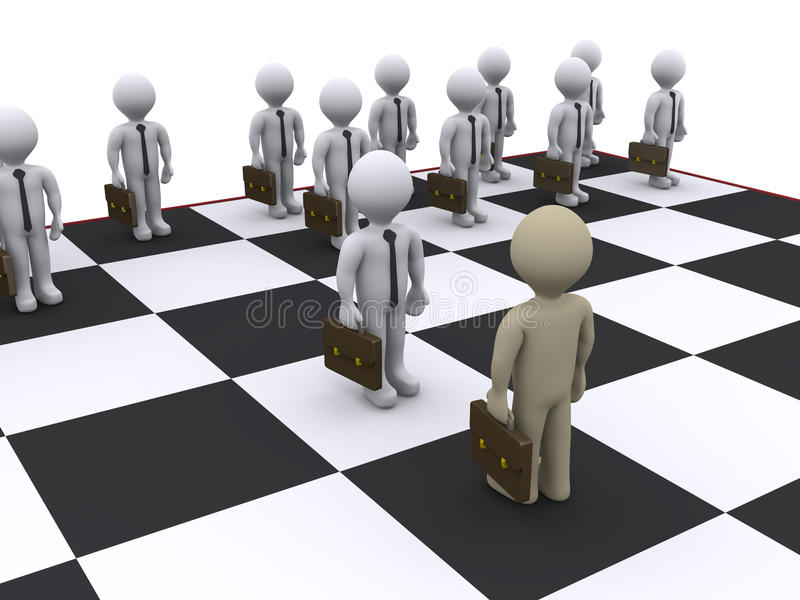 Download Business chess stock illustration. Image of checkers - 23358469