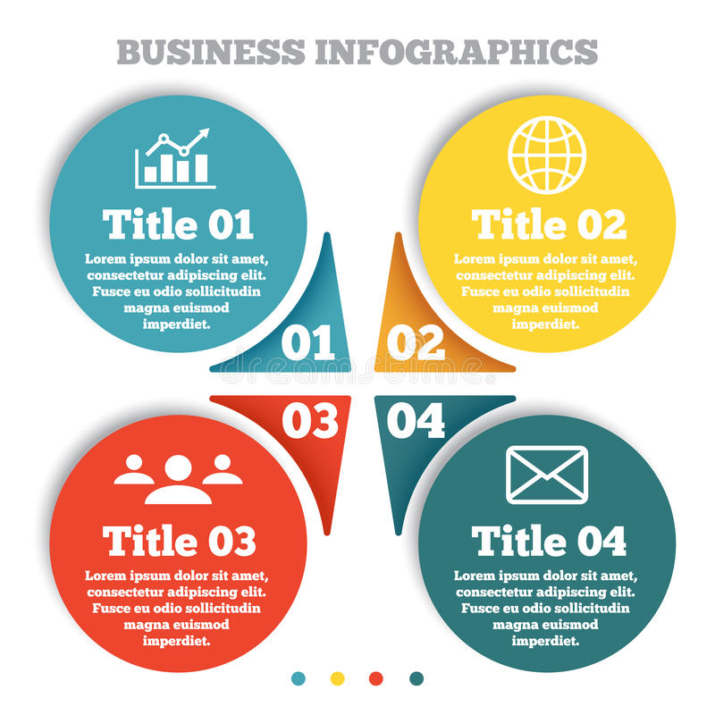 Business circle infographic, chart, diagram royalty free illustration