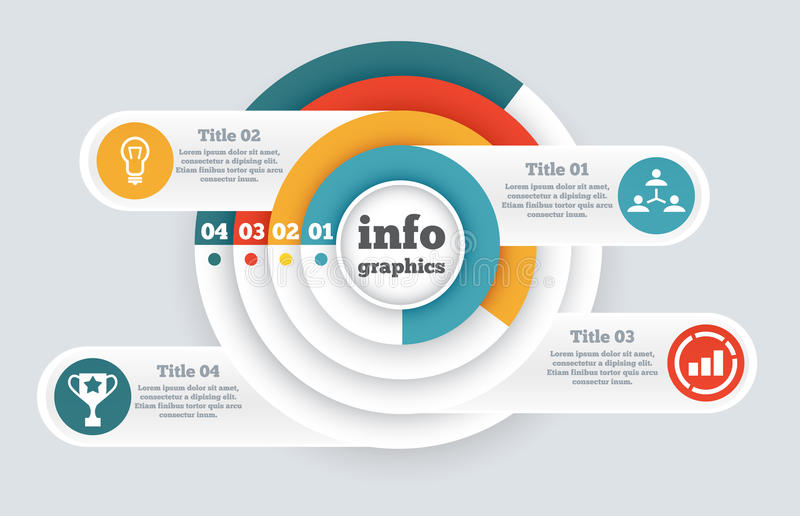 Business circle infographic, chart, diagram stock illustration