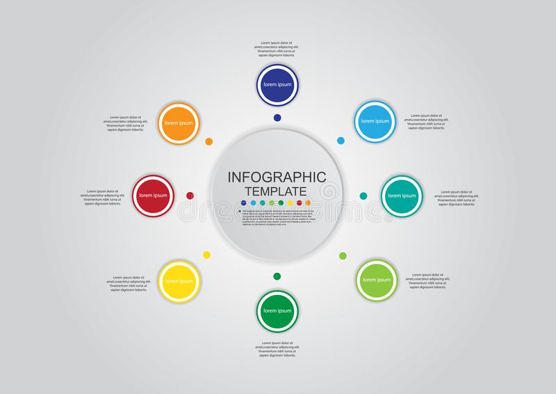 Business circle infographic template vector color design royalty free illustration