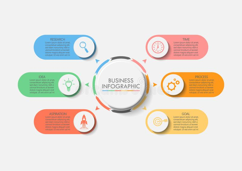Presentation Business circle infographic template vector illustration