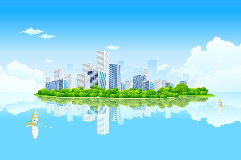 Business City Landscape royalty free stock photography