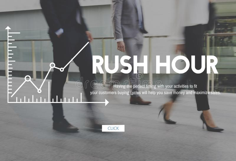 Business City Life Rush Busy Lifestyle Chart stock photography