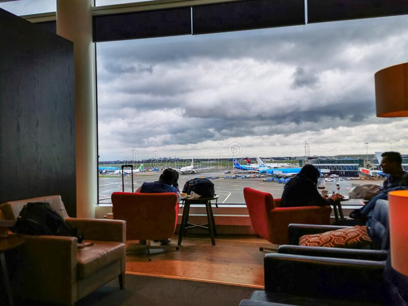 Airport premium lounge royalty free stock photography