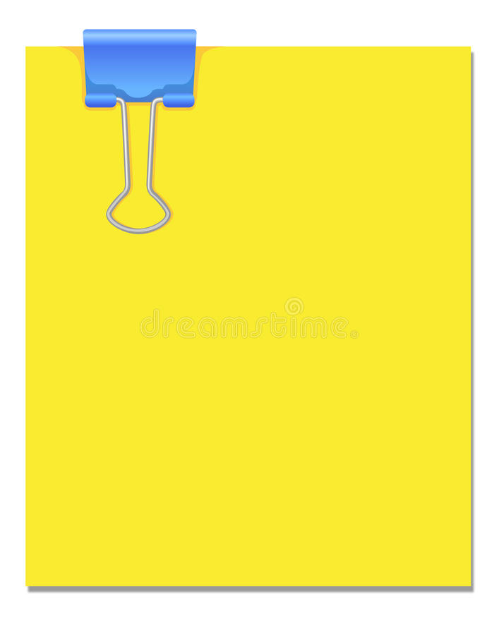 Business clip on paper. Isolated on White background royalty free illustration