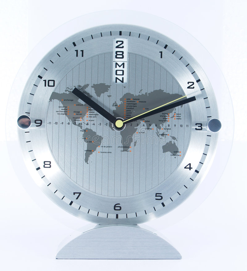 Business clock. Timing and dating with path stock photography