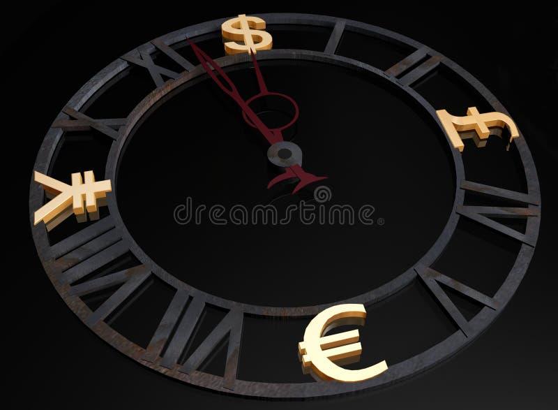 Download Business clock stock illustration. Illustration of money - 7525492
