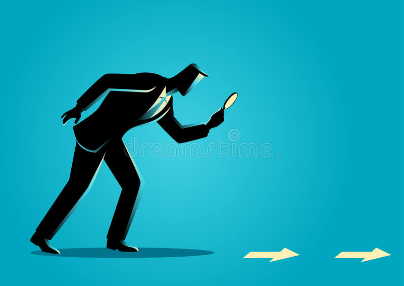 Business Clue and Searching Concept royalty free illustration