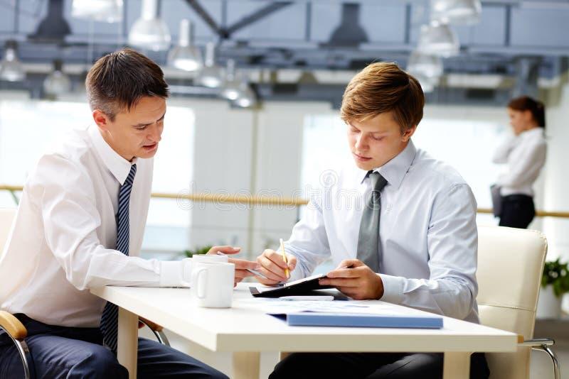 Business coaching royalty free stock image
