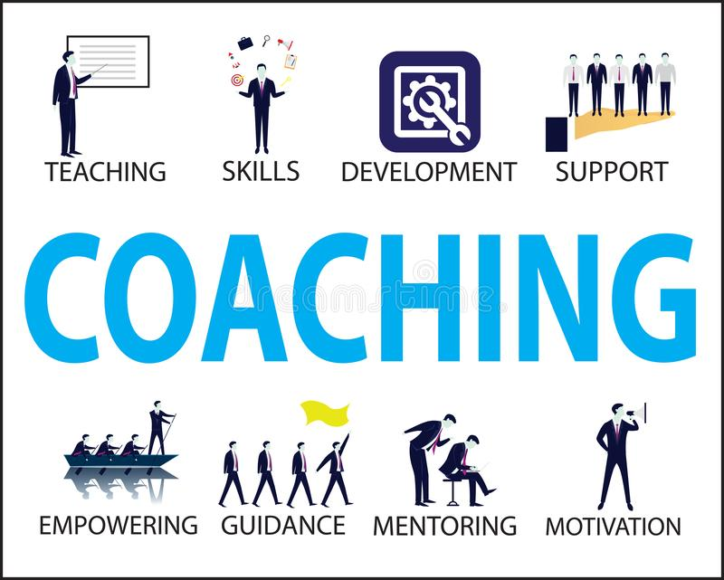 Business Coaching Leadership Mentoring Concept. Vector Illustration stock illustration