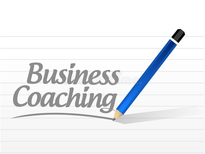 business coaching message sign concept stock illustration