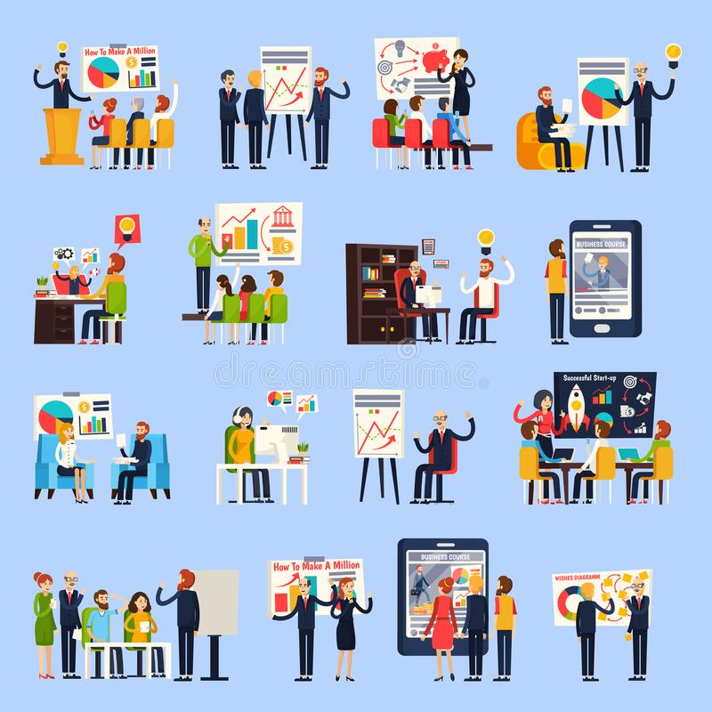 Business Coaching Orthogonal People vector illustration