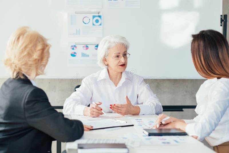Business coaching seminar successful women stock images