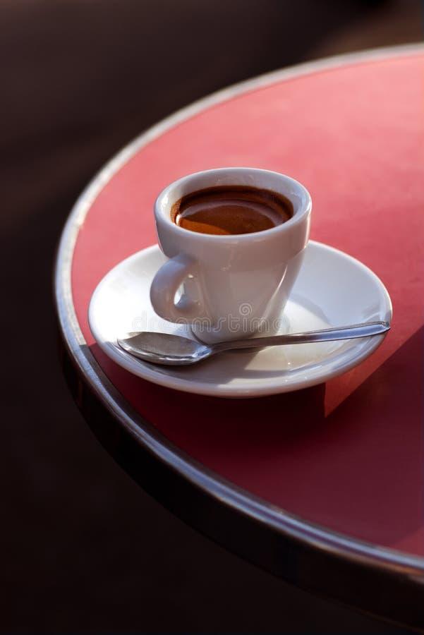 Business Coffee break in Paris. Cup, outdoor, caffeine. stock photo